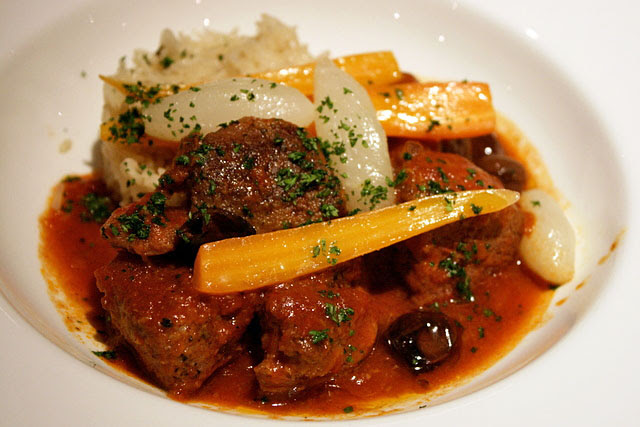 Lamb Navarin that's been gently stewed for 36 hours!