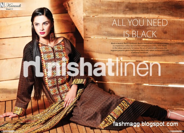 Nishat-Linen-Winter-Dresses-Collection-2013-Nishat-Linen-Fancy-Frocks-Shalwar-Kamiz-