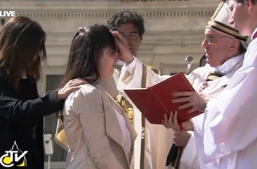 Resultado de imagem para Papa Francisco crismando