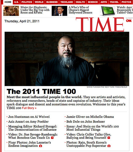 ai weiwei time top 100 for year 2011