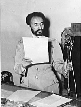 Haile Selassie, Emperor of Ethiopia, photograp...