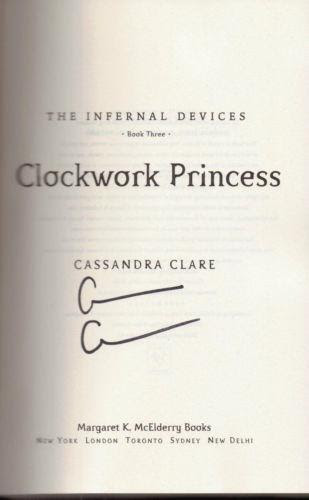 Image result for cassandra clare signed book