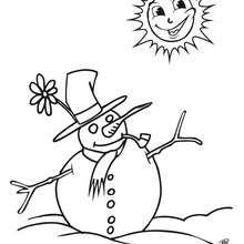 Dibujos Para Colorear Muñeco De Nieve Eshellokidscom