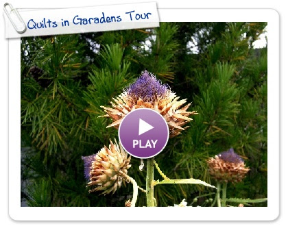Click to play this Smilebox slideshow: Quilts in Garadens Tour