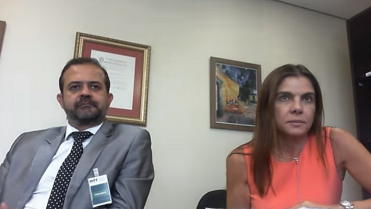 Ex-marqueteira do PT Mônica Moura durante depoimento - Reprodução/Ministério Público