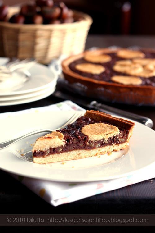 Chestnut & Chocolate Tart