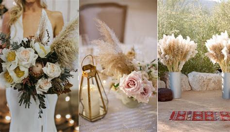 20 Bohemian Pampas Grass Wedding Ideas to Inspire You In