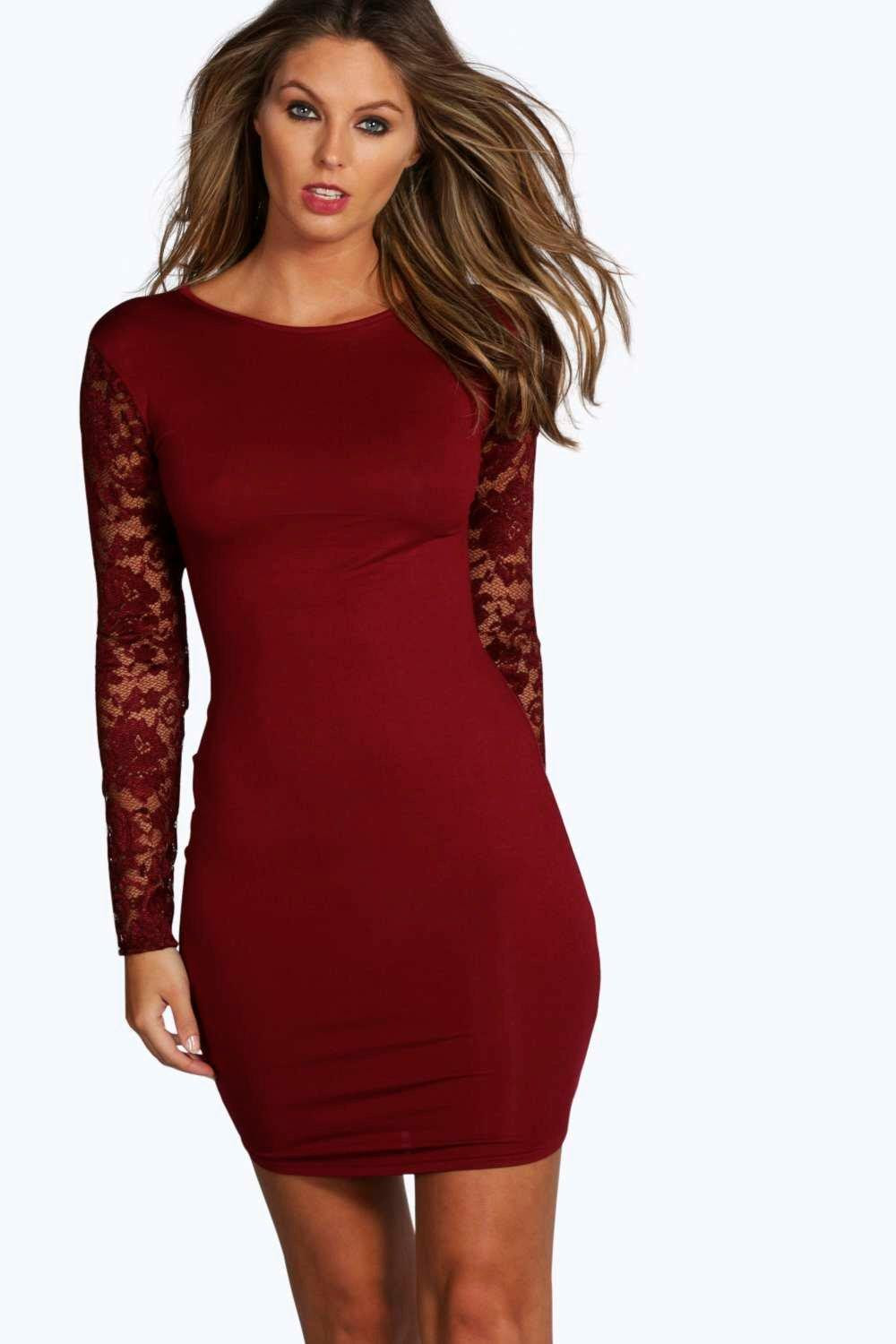 Bodycon with is a what sleeves dress outfitters red