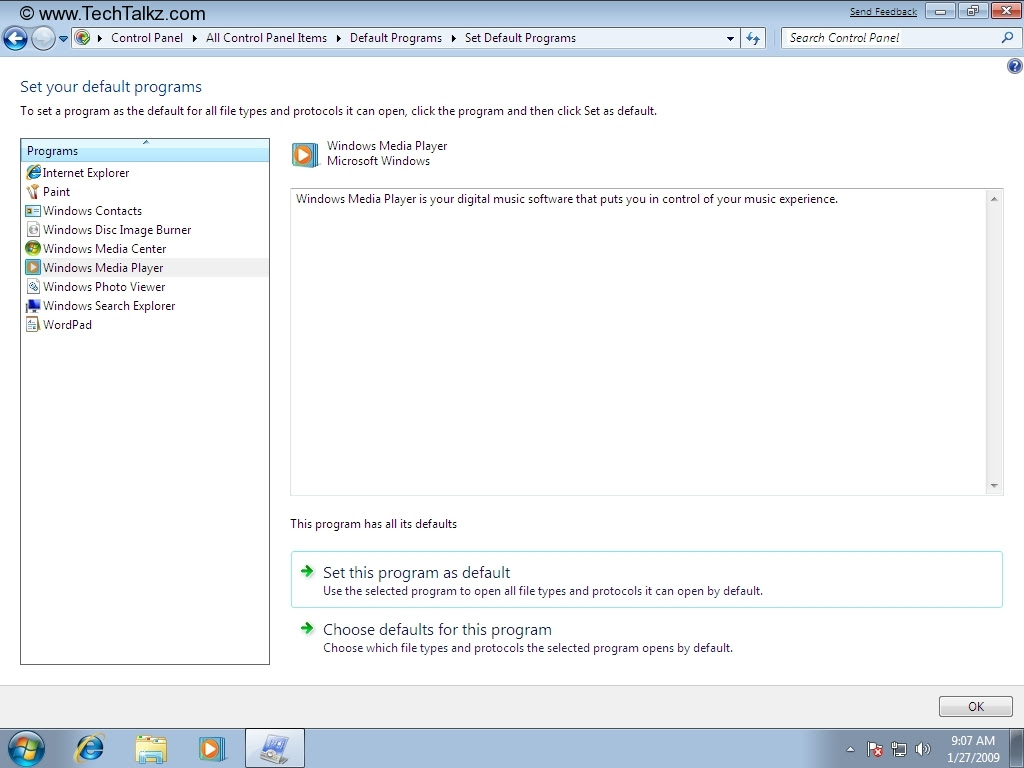 how to get to programs windows 7