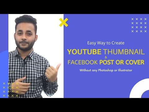 Create Professional YouTube Thumbnails   Facebook Post or Cover without Photoshop or Illustrator