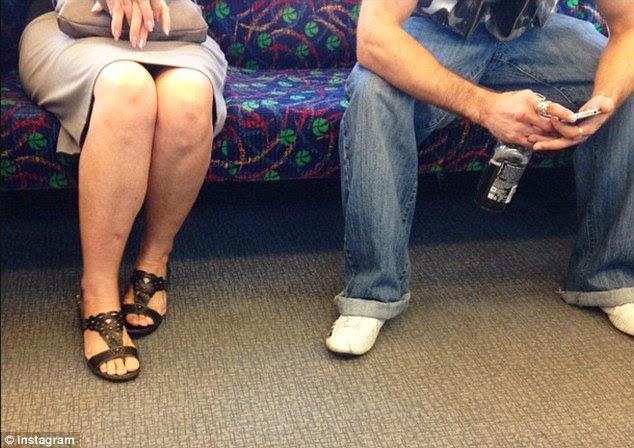 Image result for passenger sleeping on bus leg open