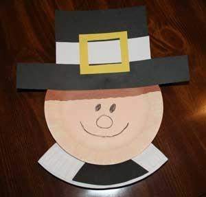 Preschool crafts for kids thanksgiving pilgrim boy paper for Pre k turkey crafts