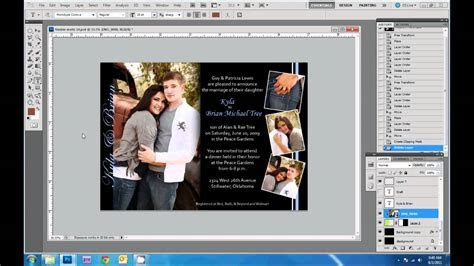 How to Design Wedding Invitations in Photoshop   YouTube