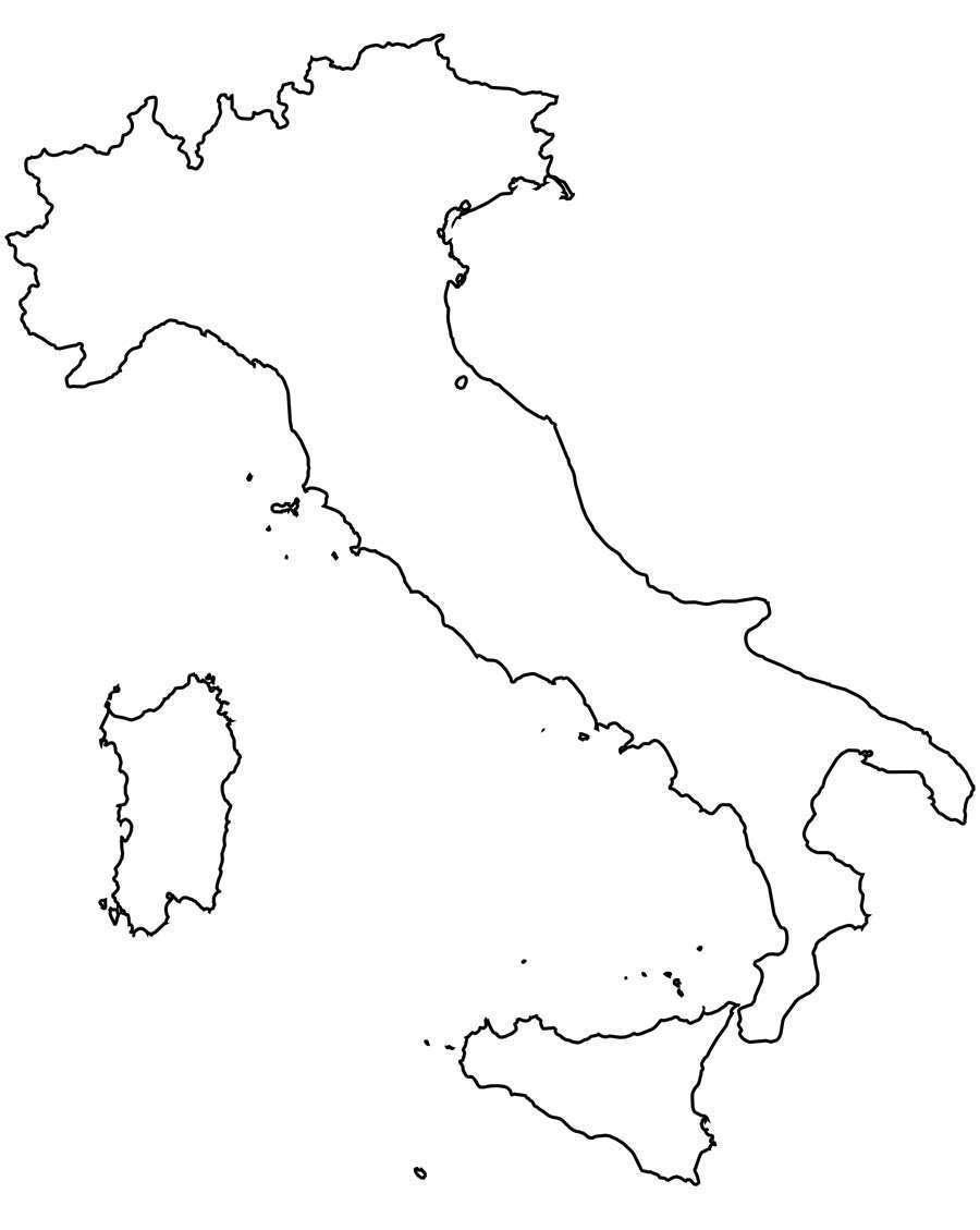 Cartina Dell Italia Da Colorare E Stampare.Cartina Dellitalia Muta Da Stampare Stampae Colorare