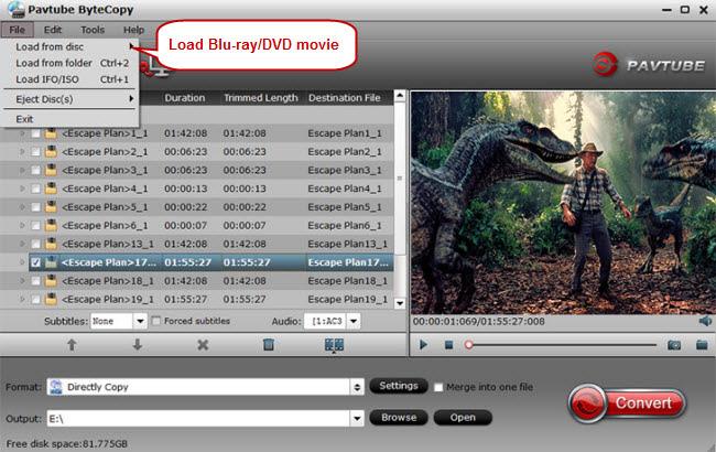 load blu-ray dvd movie