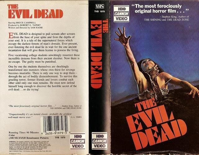 Evil Dead (cover 2) (VHS Box Art)