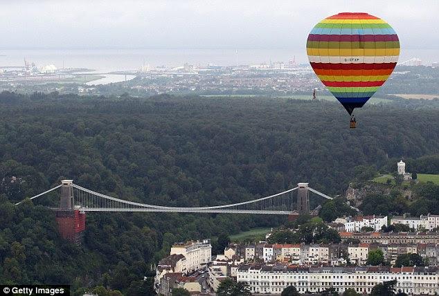 Uplifting: The annual Bristol International Balloon Fiesta got under way on Friday, August 12