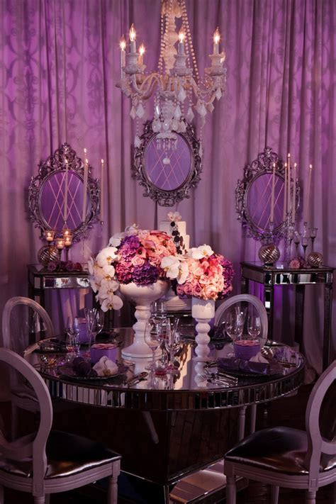 Purple wedding table decor   Architecture & Interior Design