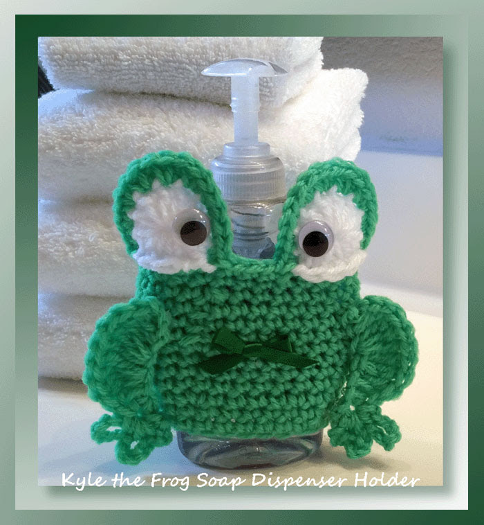 Kyle the Frog Soap Dispenser Holder