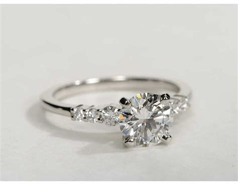 Petite Diamond Engagement Ring In Platinum Pictures