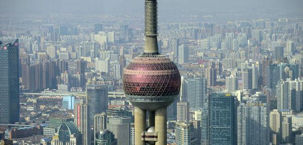 Vista de la ciudad china de Shanghai