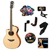 Yamaha APX700II Left Hand Acoustic Electric Guitar BUNDLE w/ Legacy Acc Kit (Tuner,Picks,DVD and More)
