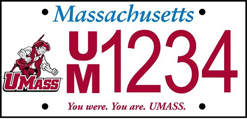 UMass License Plate by stevegarfield