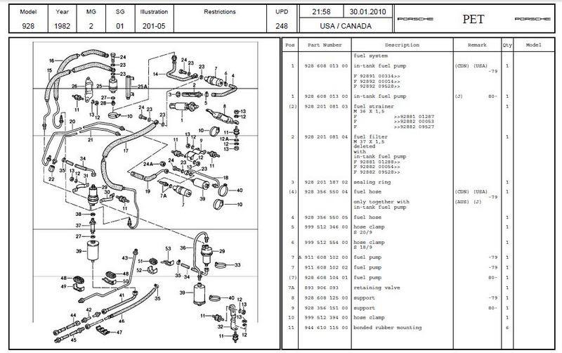 Porsche 928 Fuel Pump Wiring Diagram