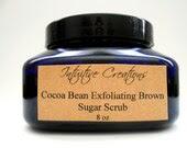 Organic Natural Cocoa Bean Exfoliating Brown Sugar Scrub 8 oz