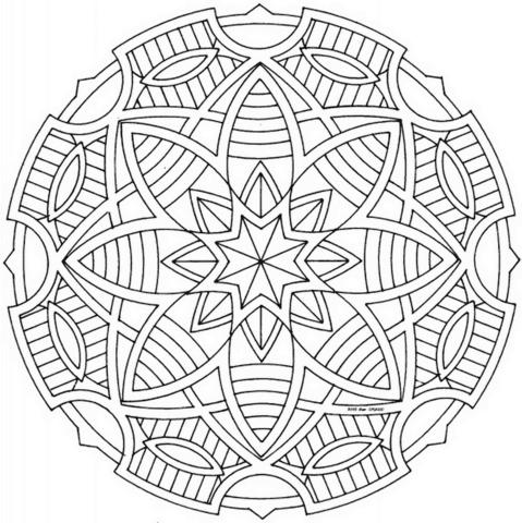 Dibujo De Mandala Celta Con Estrellas Para Colorear Dibujos Para