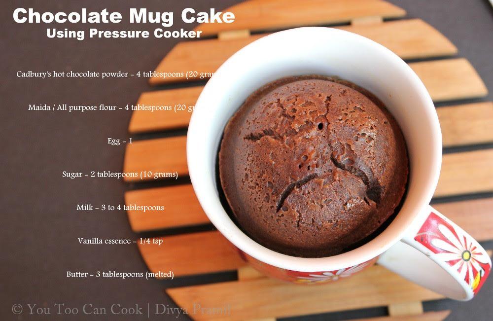 Chocolate Mug Cake Using Pressure Cooker | Christmas ...