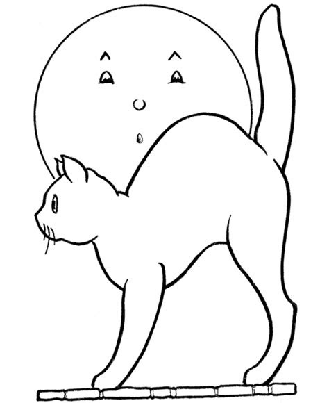 Scared Cat Coloring Page