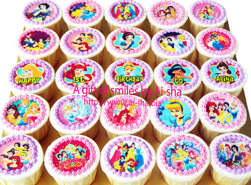 Birthday Cupcakes Disney Princess