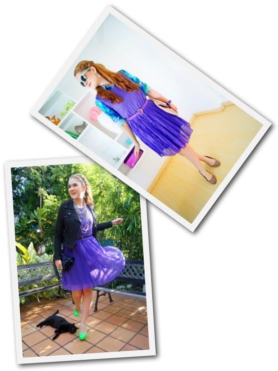 Purple Dress remix by The Joy of Fashion