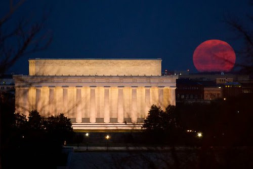 SUPERMOON: (NG) Red, White, and Moon