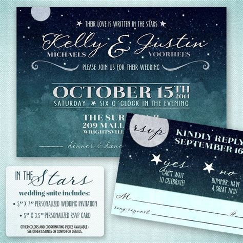 Love Written in the Stars Wedding Invitation ? Starry