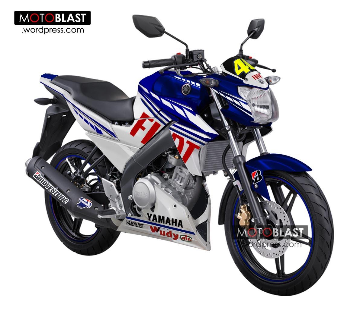 Modifikasi Striping New Vixion 2013 Terbaru Style FIAT Yamaha