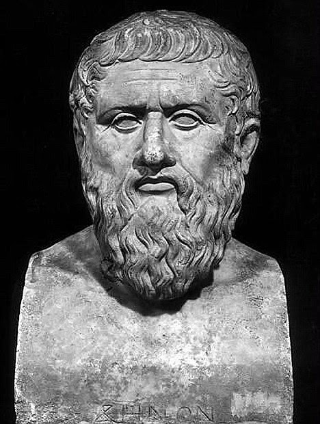 A bust of the Greek philosopher Plato