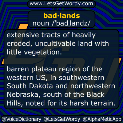 Badlands 01/25/2017 GFX Definition