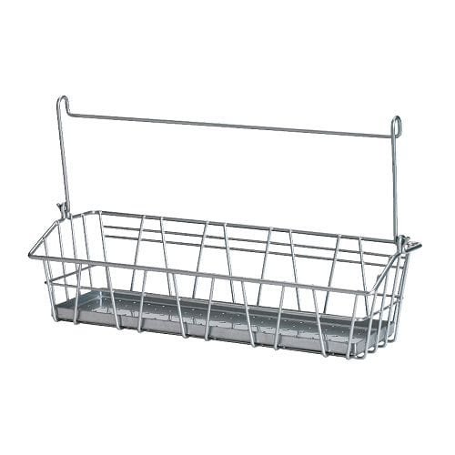 BYGEL Wire basket IKEA Can be hung on BYGEL rail, mounted to the wall or the inside of a kitchen cabinet frame or door. Saves space on the countertop