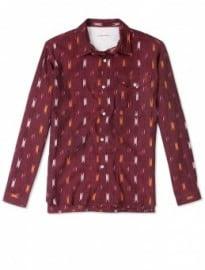 Universal Works Claret Ikat Cotton Shirt