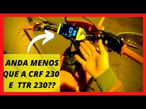 Velocidade máxima CRF 250F (top speed). Perdeu para as 230cc?