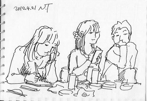 スケッチクロール夕食会 4 The dinner