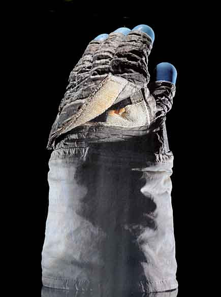 Guanto astronauta con chiusura di velcro