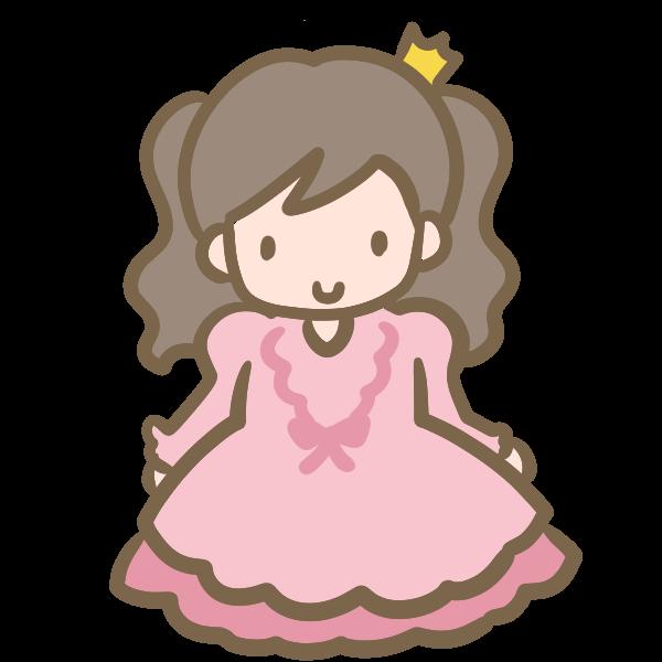 仮装する女の子ピンクのドレスのイラスト かわいいフリー素材が