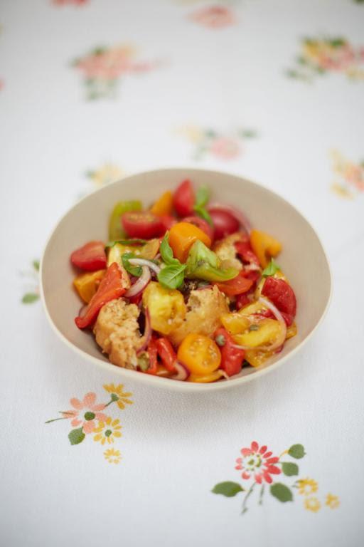 Tuscan bread and tomato salad