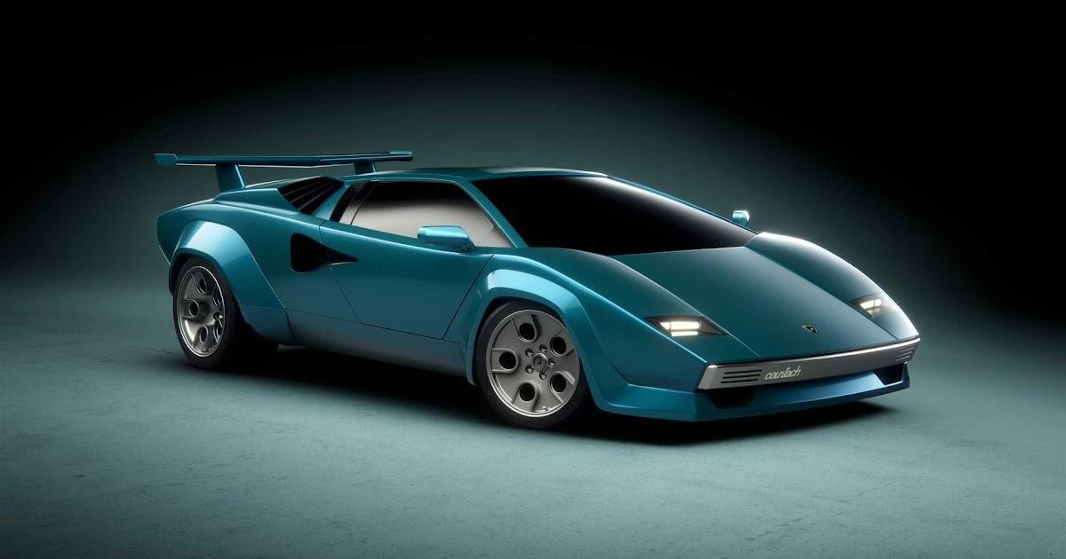 Redesigned Lamborghini Countach EV as Tribute to Marcello