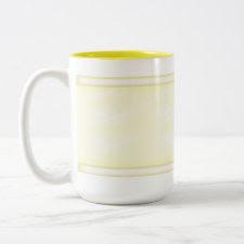 Yellow Disco Background Mug mug