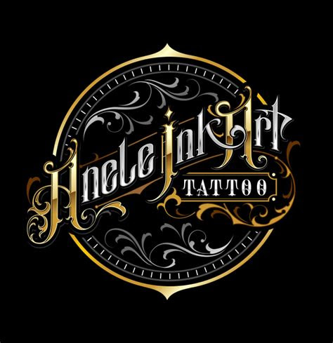 custom lettering tattoo logo design caligraphy barbershop