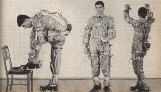Exoskeleton flexibility p3 x640 1961 2   Cornell Aeronautical Labs Man Amplifier   Neil Mizen (American)